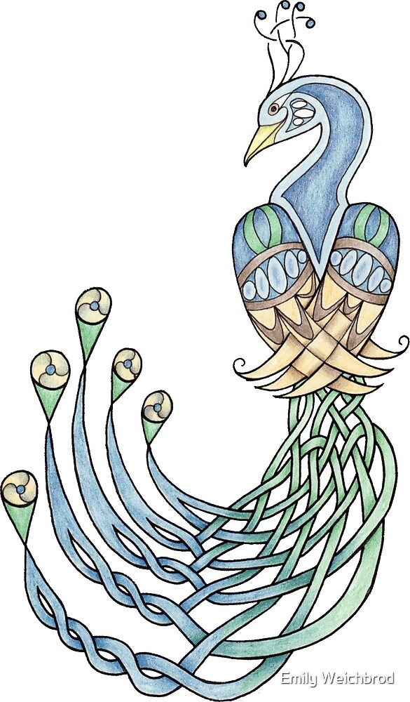 Celtic Peacock by Emily Weichbrod