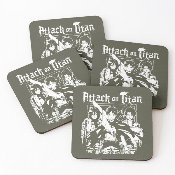 Attack on Titan Trio Crests Coasters (Set of 4)