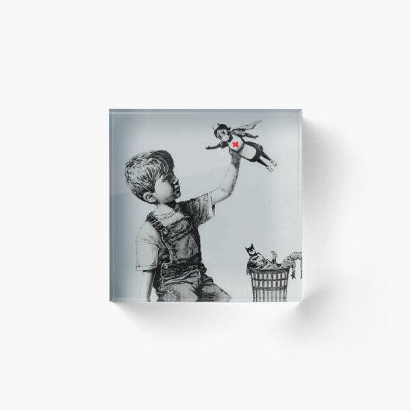 Banksy boy and nurse Acrylic Block