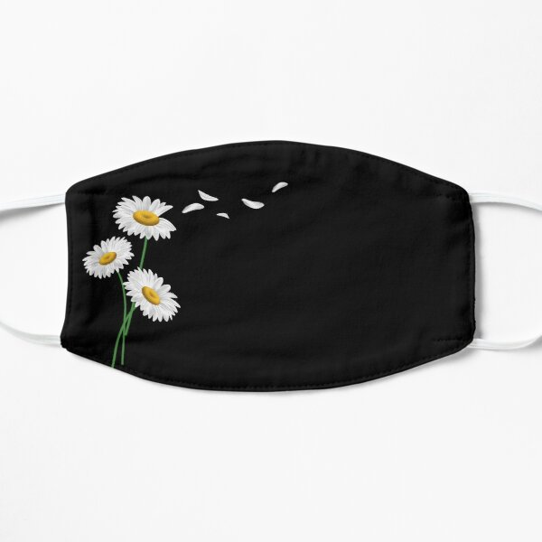 Chamomile flower in mask, Flower mask Flat Mask