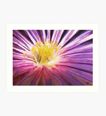 Purple Flower Watercolour Art Print
