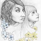 Patricia Ariel and Isobel  by Damara Carpenter