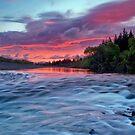Hutt River Red Warning by Ken Wright