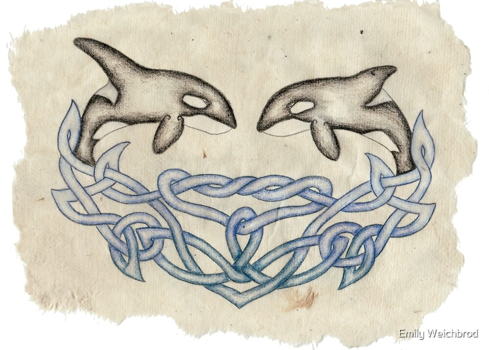 Celtic Orcas by Emily Weichbrod