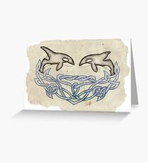 Celtic Orcas Greeting Card