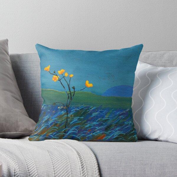 Flower, Mountain Throw Pillow