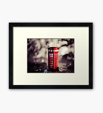 Abstract - Red Phone Box Framed Print