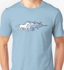 Unicorn Narwhal Evolution Unisex T-Shirt