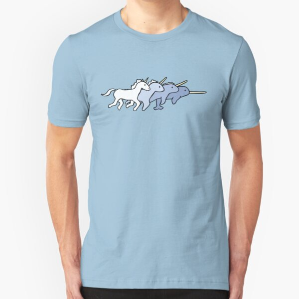 Unicorn Narwhal Evolution Slim Fit T-Shirt