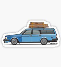 Volvo 245 Brick Wagon 200 Series Blue Shopping Wagon Sticker