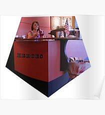 Heroes Coffee Bar Poster