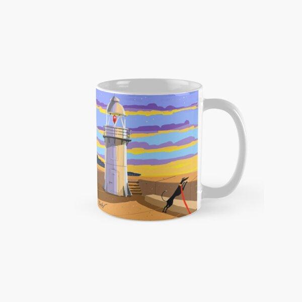 Lighthouse at Sunset Classic Mug