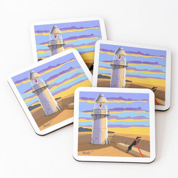 Lighthouse at Sunset Coasters (Set of 4)