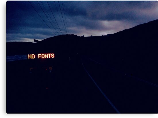 NO FONTS by sjem ©