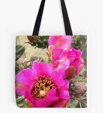 Candelabrum Cactus Rose Tote Bag