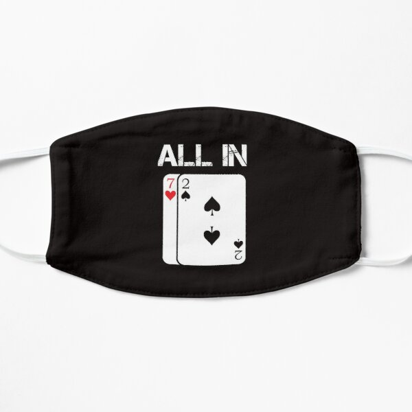 Poker Card Game  All In Gift Poker Player 7 2 Flat Mask