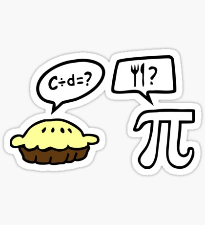 Pie and Pi Sticker