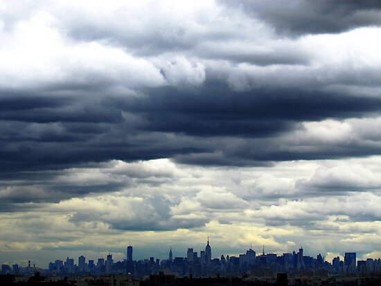 Cloudy in New York City by Alberto  DeJesus