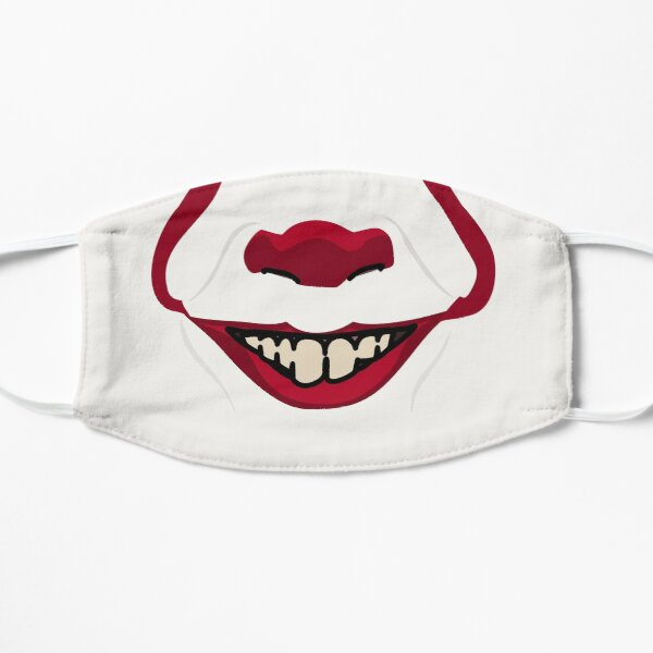 Creepy Clown Mouth Flat Mask