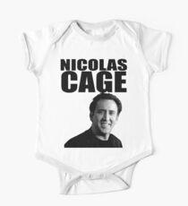 Body de manga corta para bebé Nicolas Cage