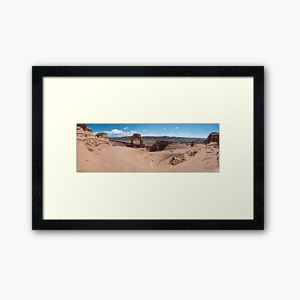 Delicate Arch Panorama.2 - Arches National Park, Utah Framed Art Print