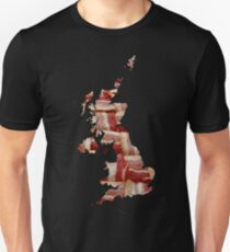 United Kingdom - British Bacon Map - Woven Strips T-Shirt