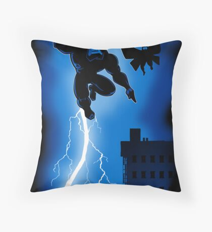The Blue Mite Returns Throw Pillow