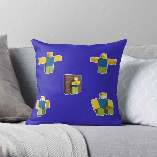 Gift Roblox Throw Pillow By Greebest Redbubble Roblox Noob T Pose Gift For Gamers Throw Pillow By Smoothnoob Redbubble