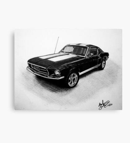 1967 Ford Mustang Fastback Canvas Print