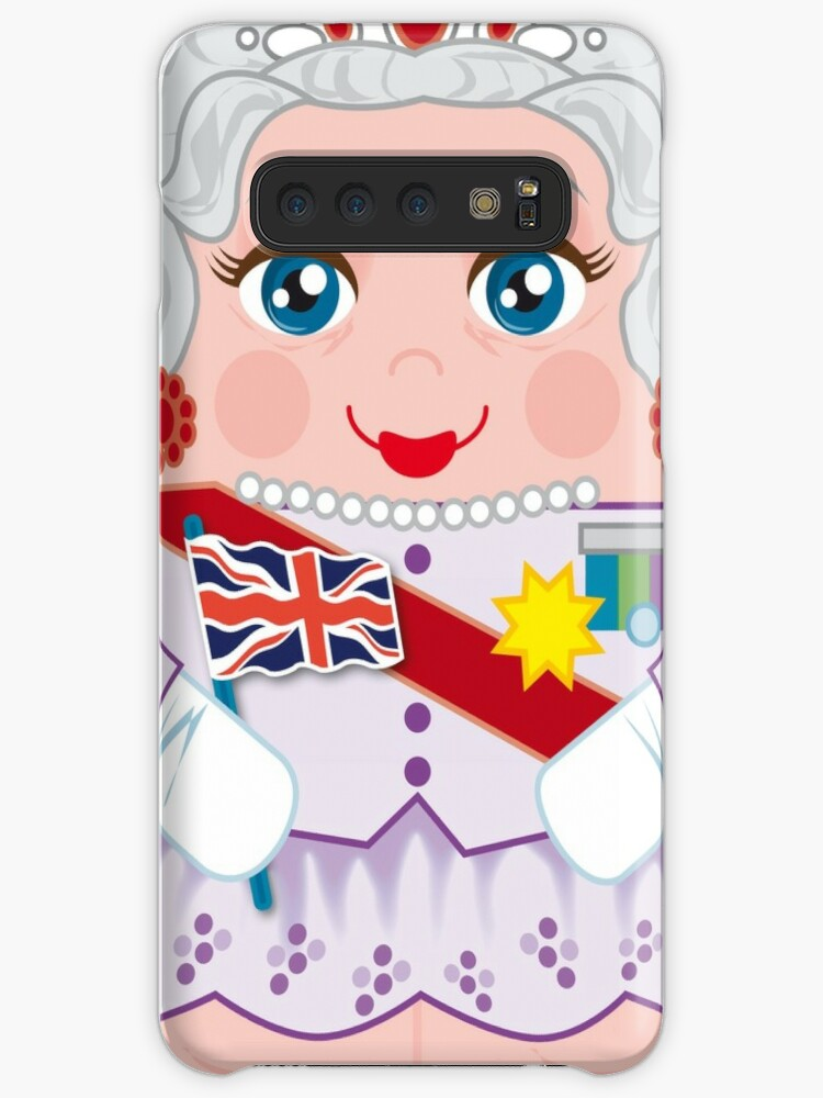 Queen Elizabeth Hero Hugger Caricature Case Skin For Samsung Galaxy By Herohuggers Redbubble