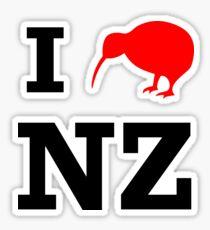 I Love New Zealand (Kiwi) Sticker