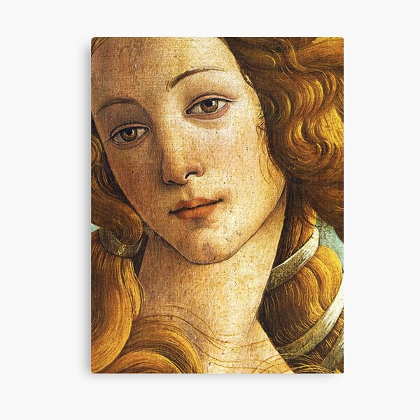 The Birth of Venus - Face Detail Canvas Print