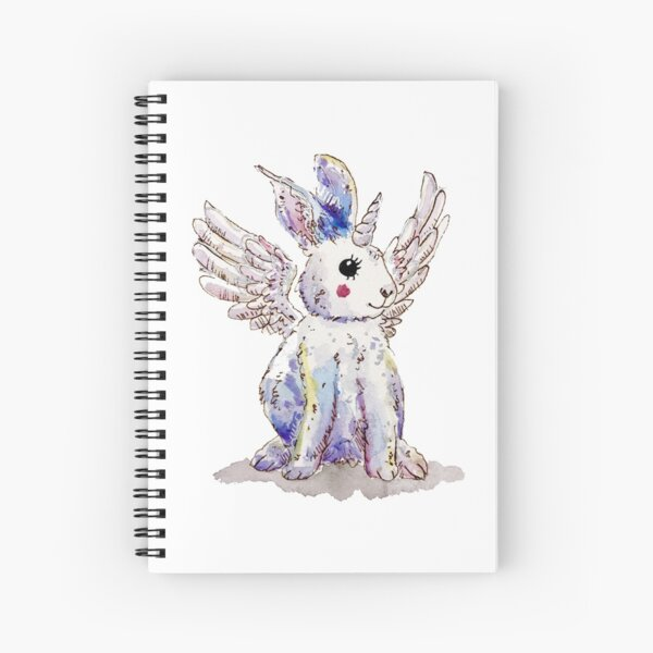 Unicorn Pegasus Bunny Rabbit Spiral Notebook