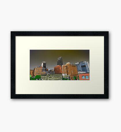 Omaha Paint Framed Print