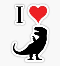 I Love Dinosaurs - T-Rex Sticker