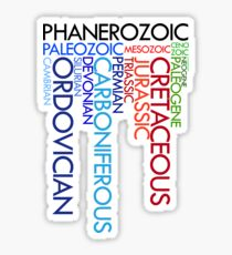 Phanerozoic aeons, eras, ages Sticker