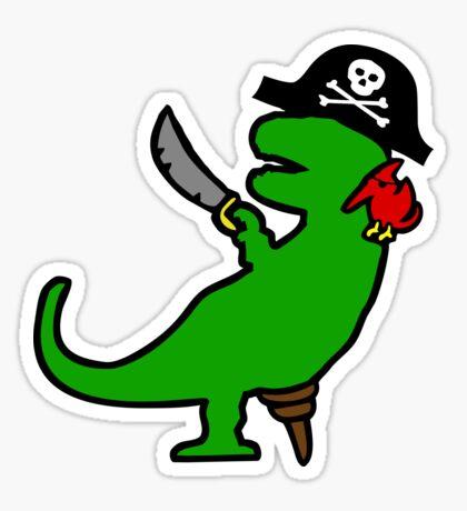 Pirate Dinosaur - T-Rex Sticker