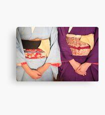 Graceful kimonos Canvas Print