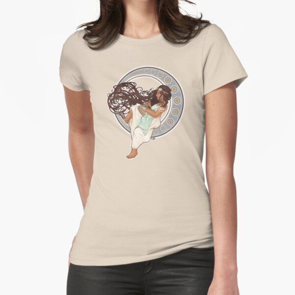 Steampunk Mucha Girl Fitted T-Shirt