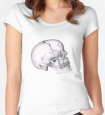 Wilbur Malone the Skull Women's Fitted Scoop T-Shirt
