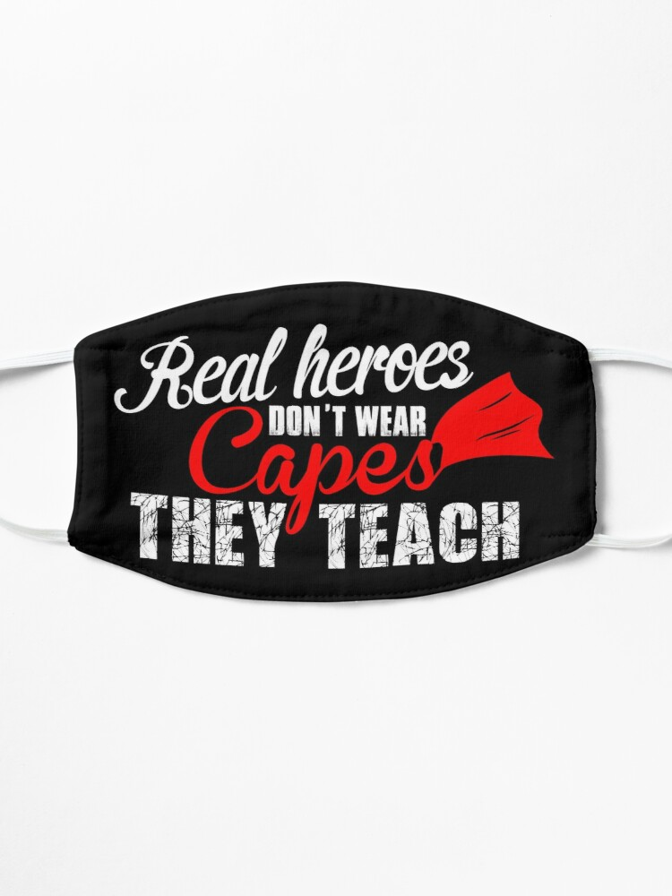 Alternate view of Real Heroes Don't Wear Capes design Mask