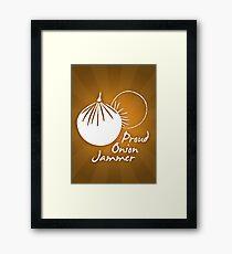 Onion Jammer Framed Print