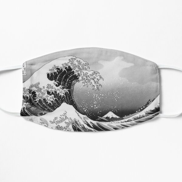 Great Wave in Black and White Mask