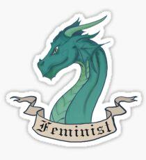FEMINIST - Dark Dragon Sticker