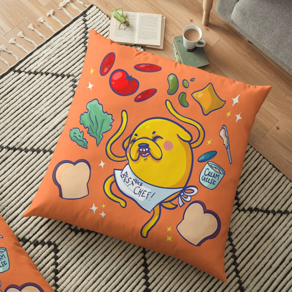 Make a sandwich with jake! Floor Pillow