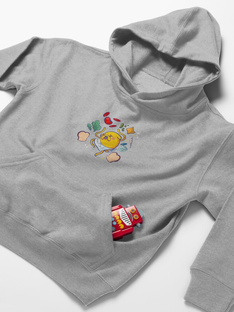 Alternate view of Make a sandwich with jake! Kids Pullover Hoodie