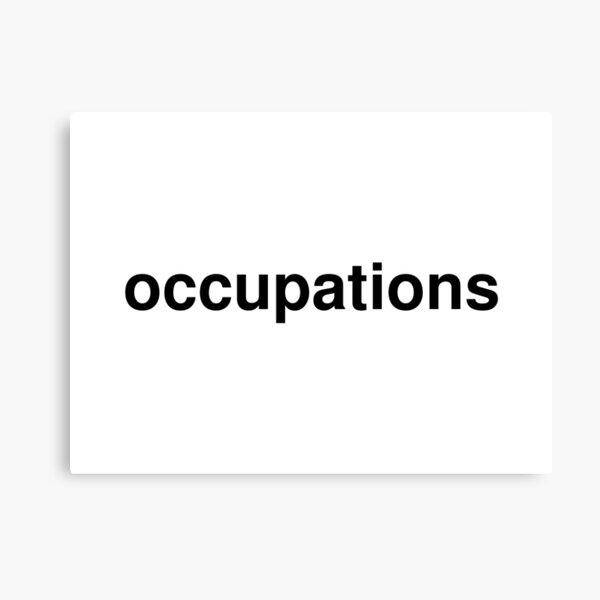 occupations Canvas Print