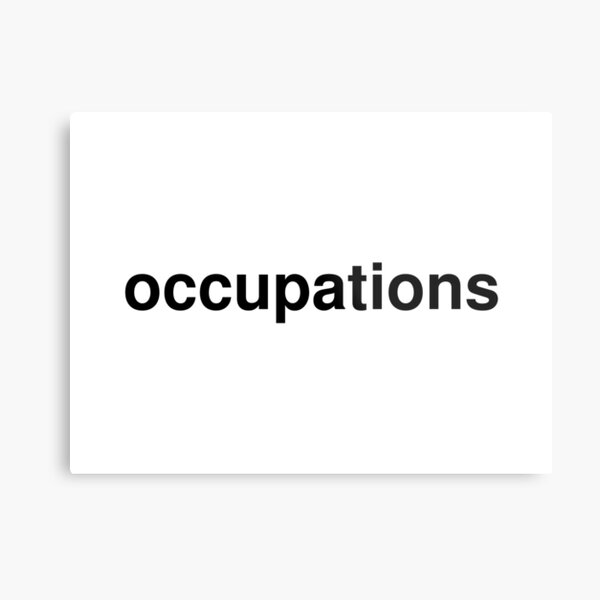 occupations Metal Print