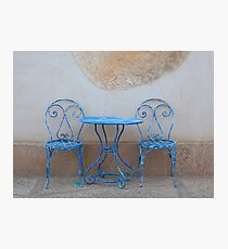 Blue Chairs Photographic Print