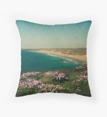 Perranporth Cornwall UK Throw Pillow